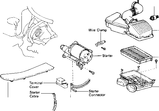 Toyota Tacoma Starter Motor Diagram. Toyota. Auto Parts
