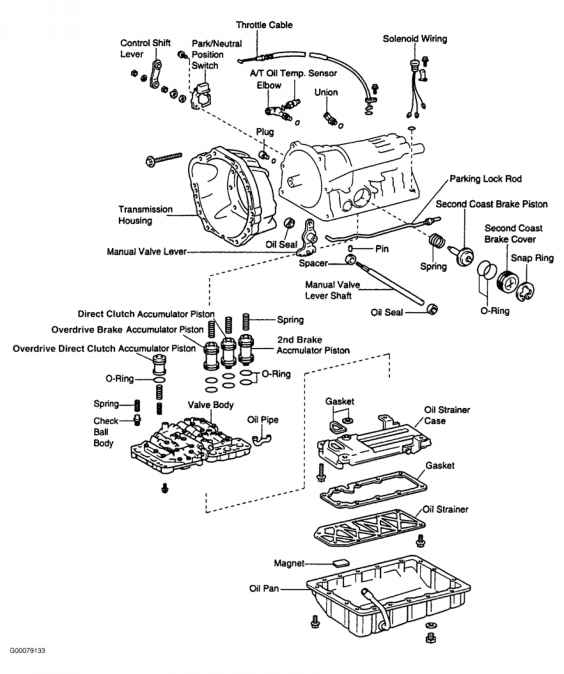 toyota matrix transmission diagram