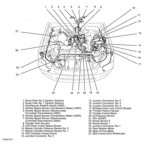 2001 Toyota 4runner Engine Compartment Diagram