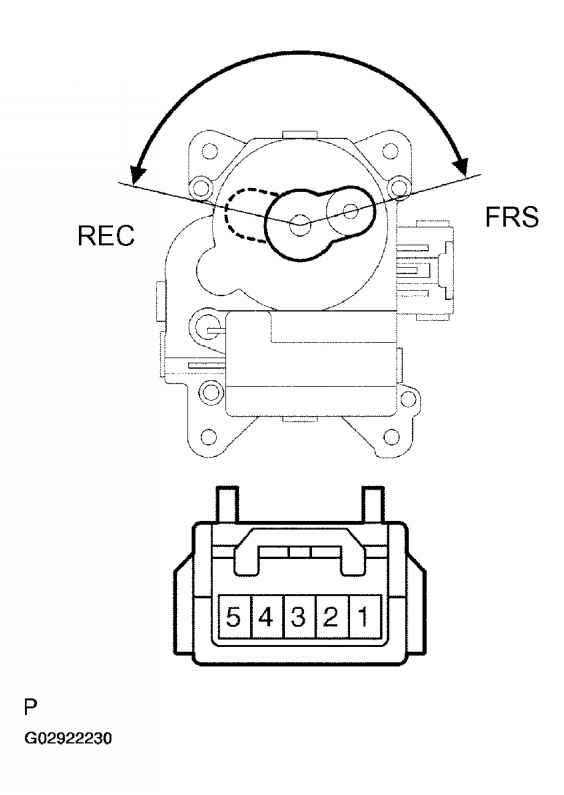 NOTE As the water valve servomotor moves from cool side to