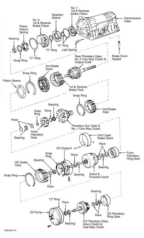 Toyota A340 Transmission Parts Diagram. Toyota. Auto