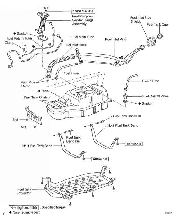 Fue Pump 2001 Toyota Sequoia Parts Diagram. Toyota. Auto