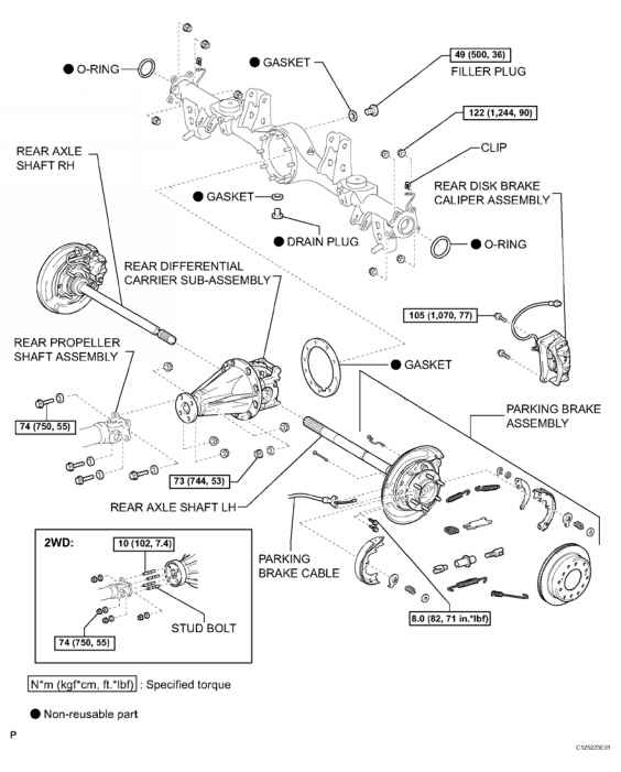 Diagram Toyota Tacoma Differential Carrier