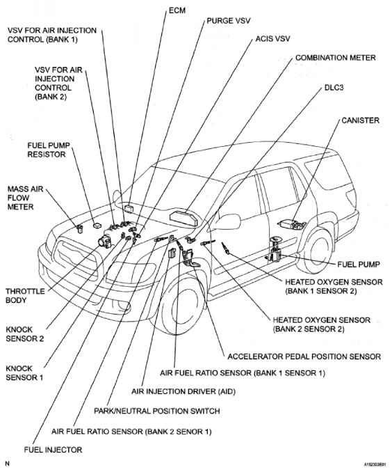 2001 Toyota Tundra Serpentine Belt Diagram