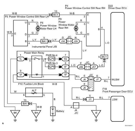 2002 toyota celica wiring diagram rv fresh water tank driver side door window lock signal circuit description - sequoia equipment