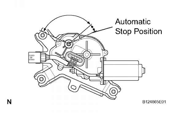 Inspect Rear Wiper Motor Stopping At Stop Position