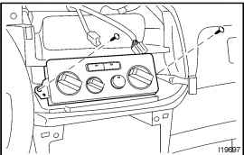 Service manual [2003 Toyota Sienna Blower Motor Removal