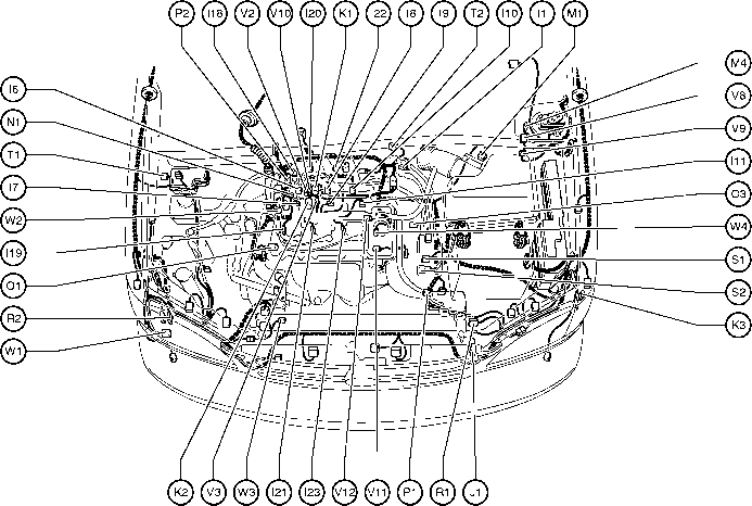 2000 ford f150 starter solenoid wiring diagram pt100 sensor position of parts in engine compartment - toyota sienna 1997-2003 repair