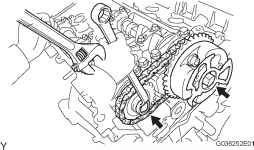 Install Camshaft Timing Gears And No Chain for Bank