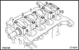 Install Main Bearing Caps And Lower Thrust Washers