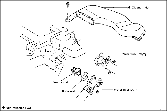 Service manual [1997 Toyota Tercel Replace Thermostat