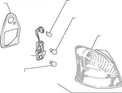 Rear Combination Light Assembly for Hatchback Components