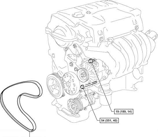 2011 Toyota Camry Power Steering Belt Diagram