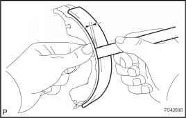 Remove Rear Brake Parking Brake Shoe Lever Subassembly