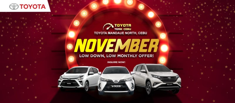 Toyota Cebu November 2020 Promotion PH