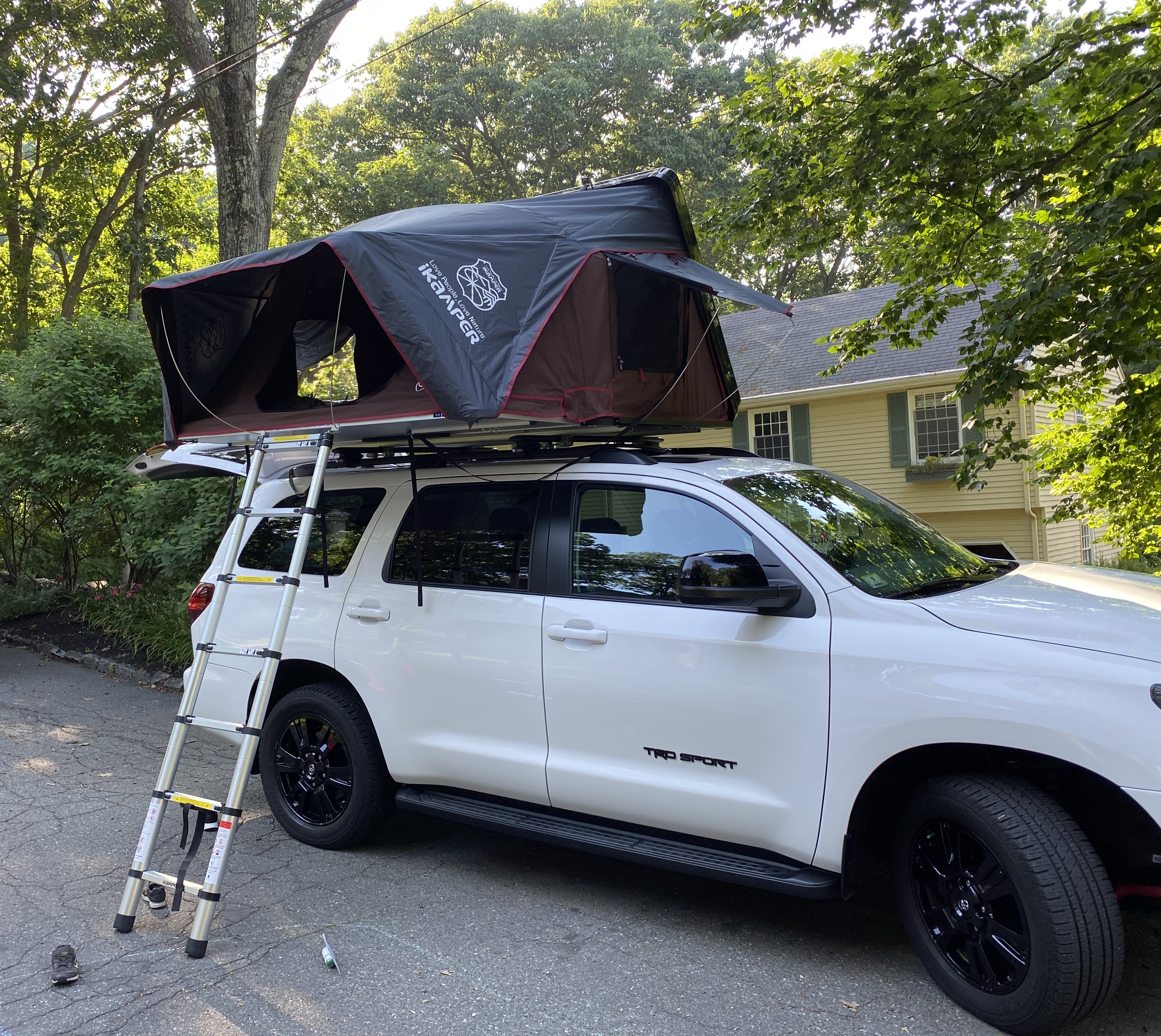 rooftop tent on stock sequoia roof
