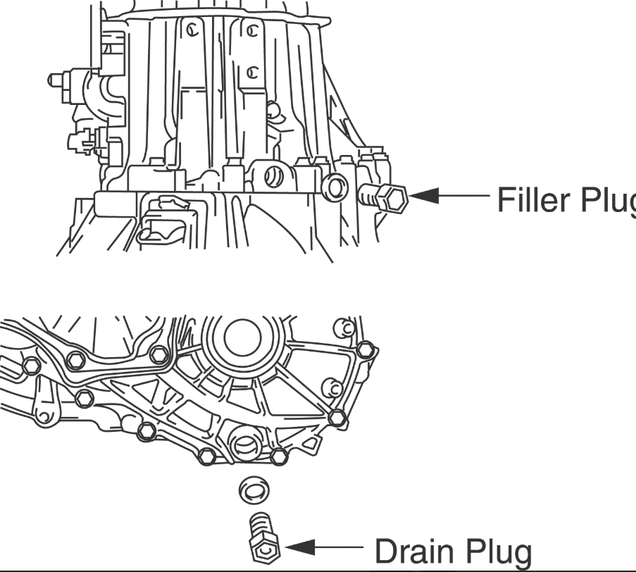 2012 corolla What bolt is Manual transmission Fill plug