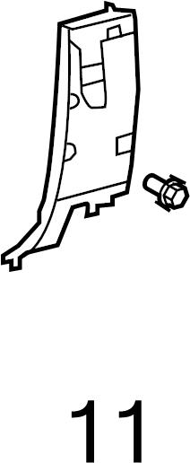 Toyota RAV4 Clip. Trim. Panel. PILLAR. Retainer
