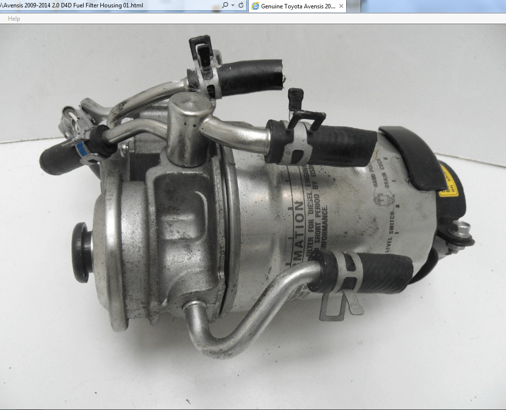 hight resolution of avensis d4d fuel filter png