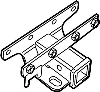 2012 Toyota Tacoma Bracket sub-assembly, receiver hitch