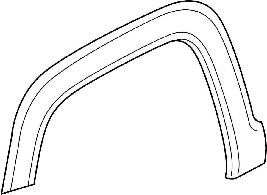 Toyota Tundra Moulding, front fender wheel opening, right