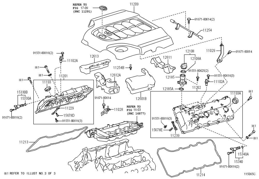 Toyota Land Cruiser Cover, engine, no.3. Cover, engine, no