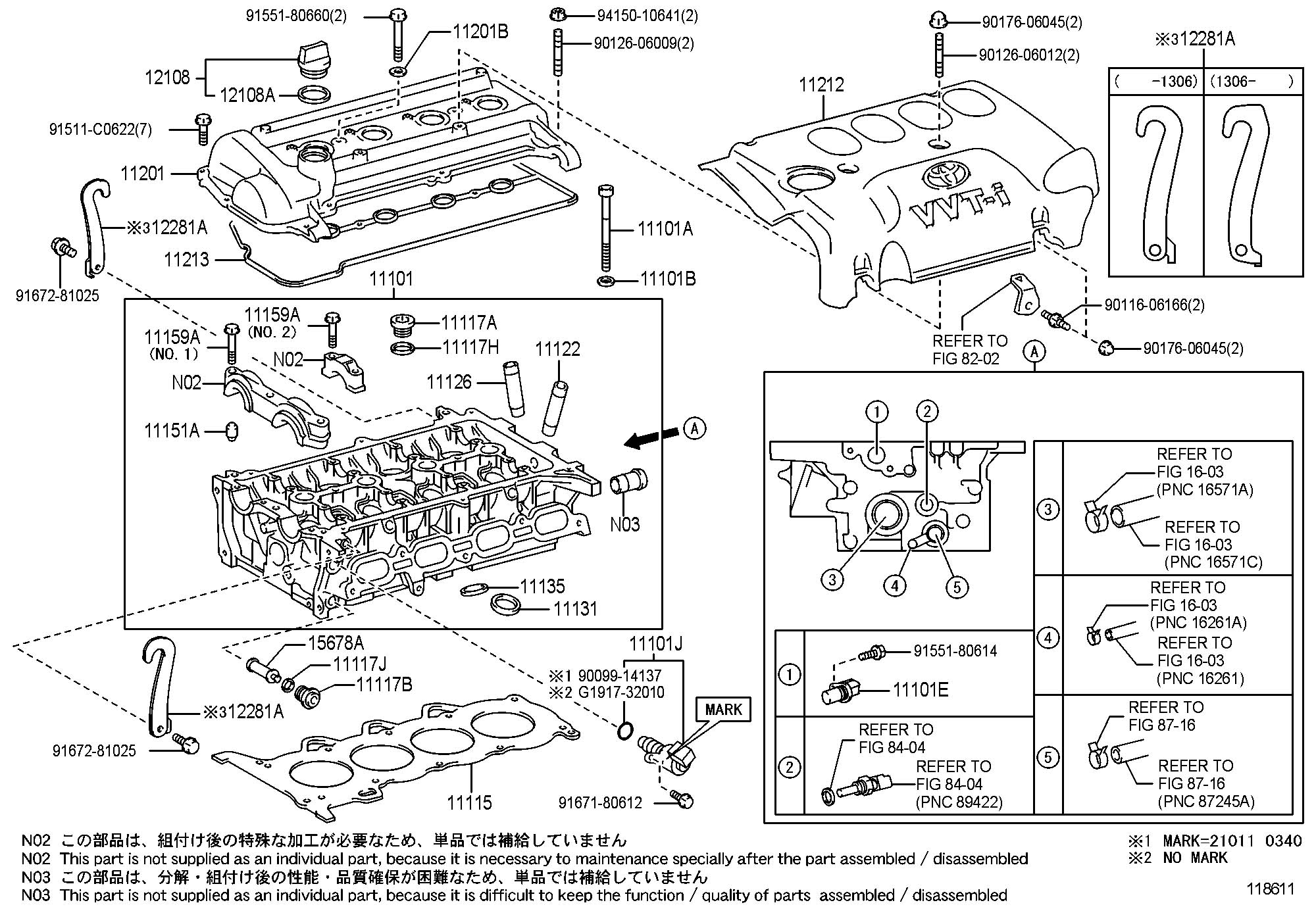 Toyota Echo Valve Assembly Camshaft Timing Oil