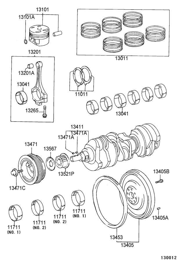 2000 Toyota Solara Bolt, flywheel set. Efi, transmission