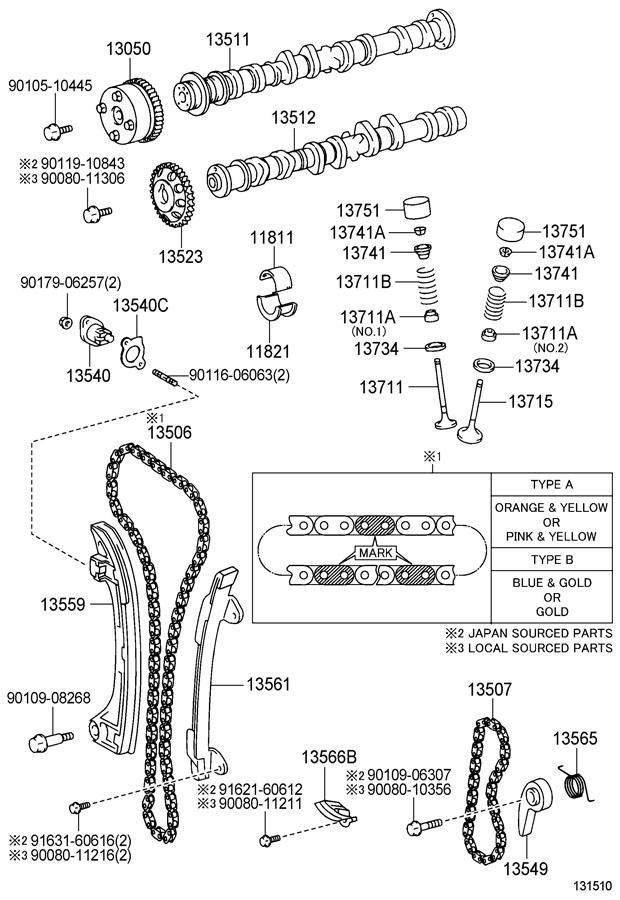 2001 Toyota Solara Seal or ring, o (for valve stem oil