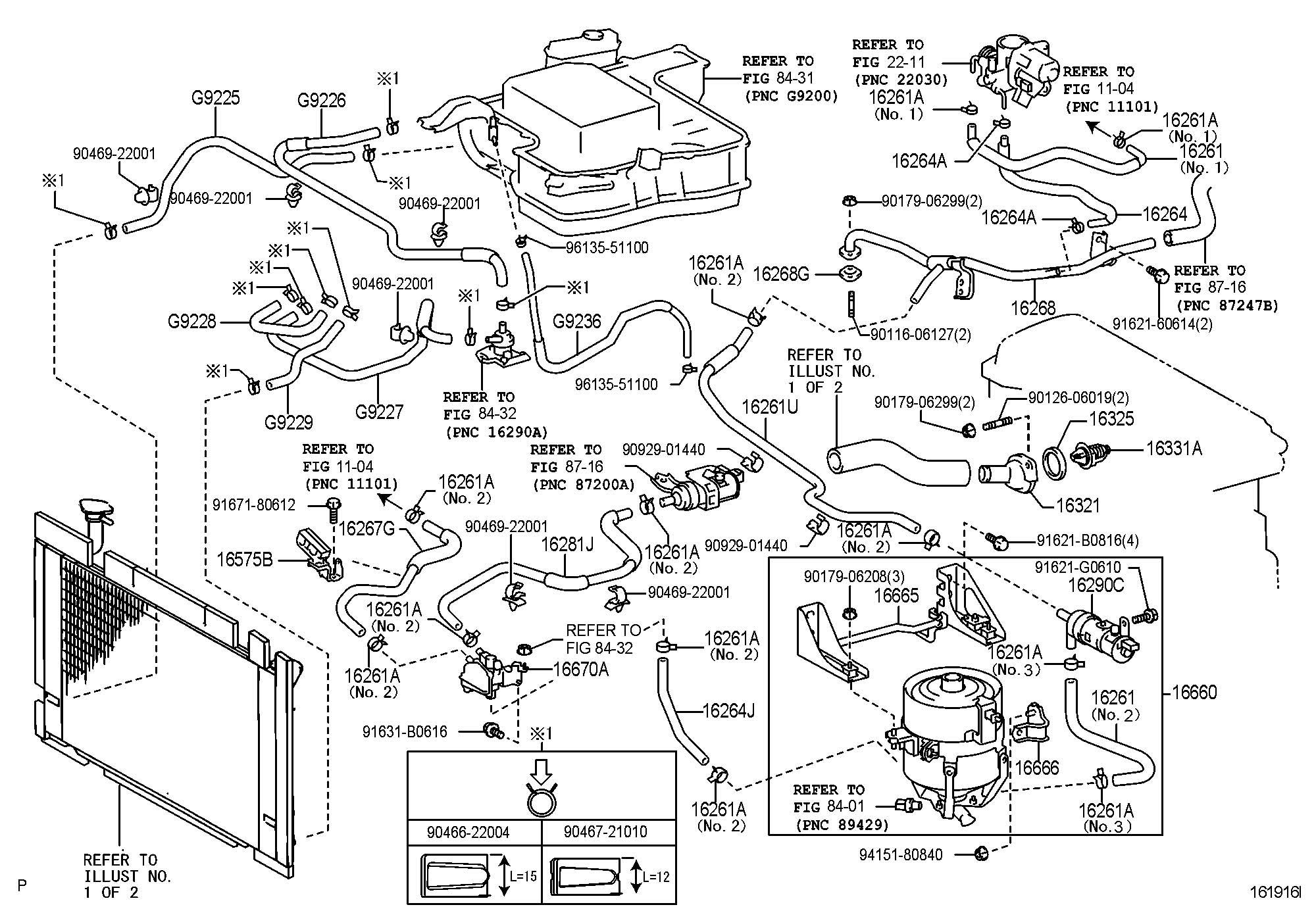 Toyota Prius Valve Assembly Water With Bracket Valve