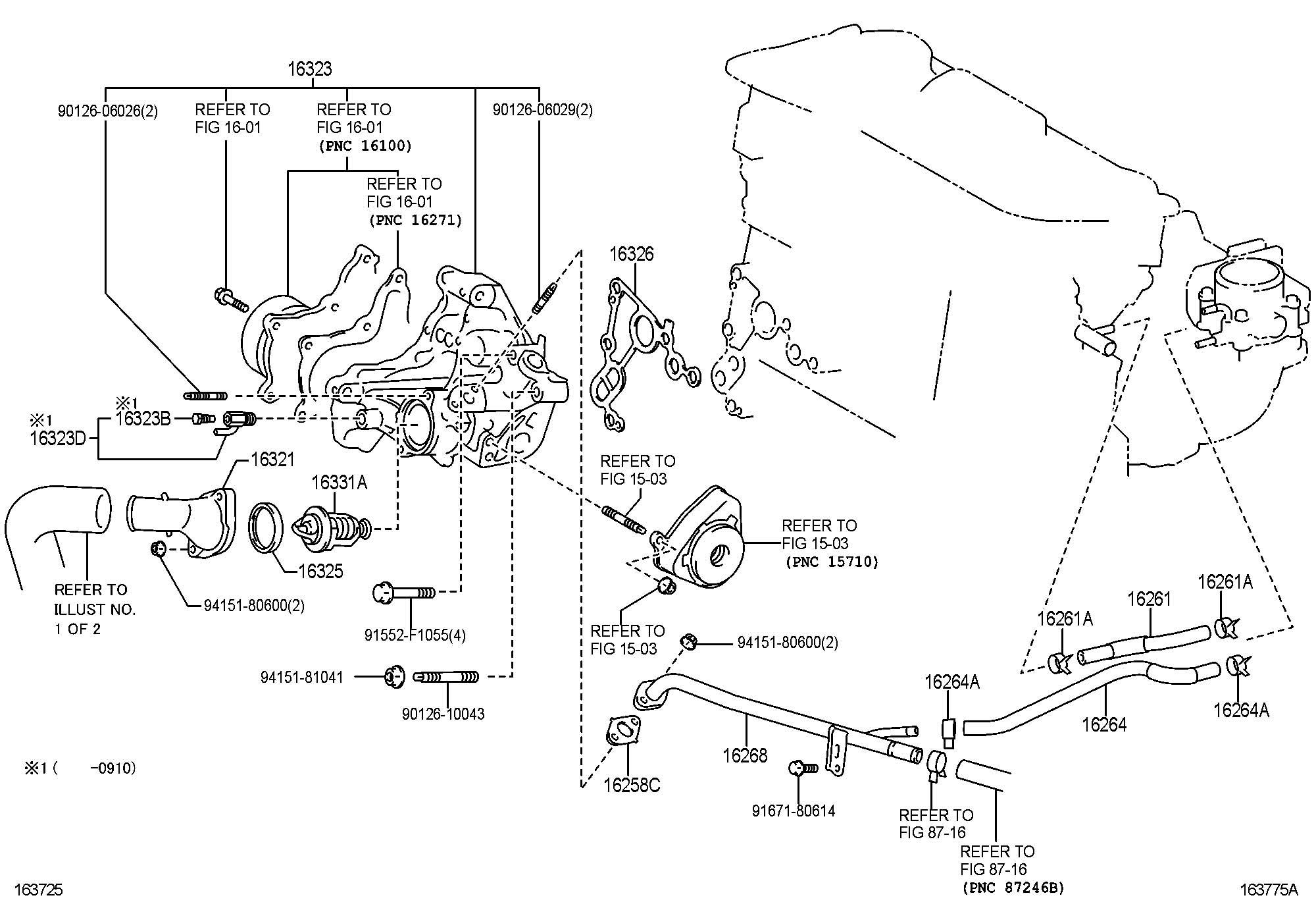 Toyota Camry Thermostat Valve Efi Dohc