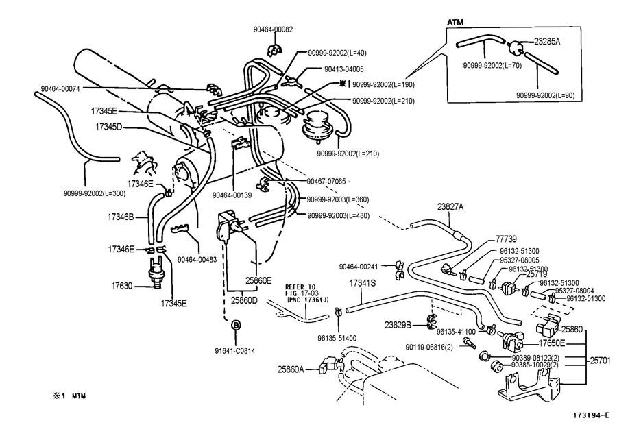 Toyota Tacoma DLX Valve assembly, vacuum switching; valve