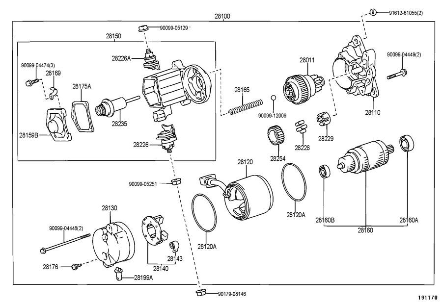 Toyota 4Runner Starter assembly. Starter; 12v 1.8kw; 12v 1
