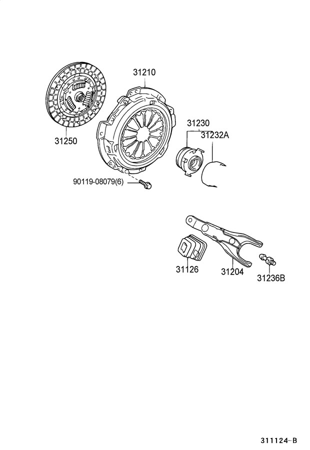 Toyota Echo Bearing assembly, clutch release. Bearing