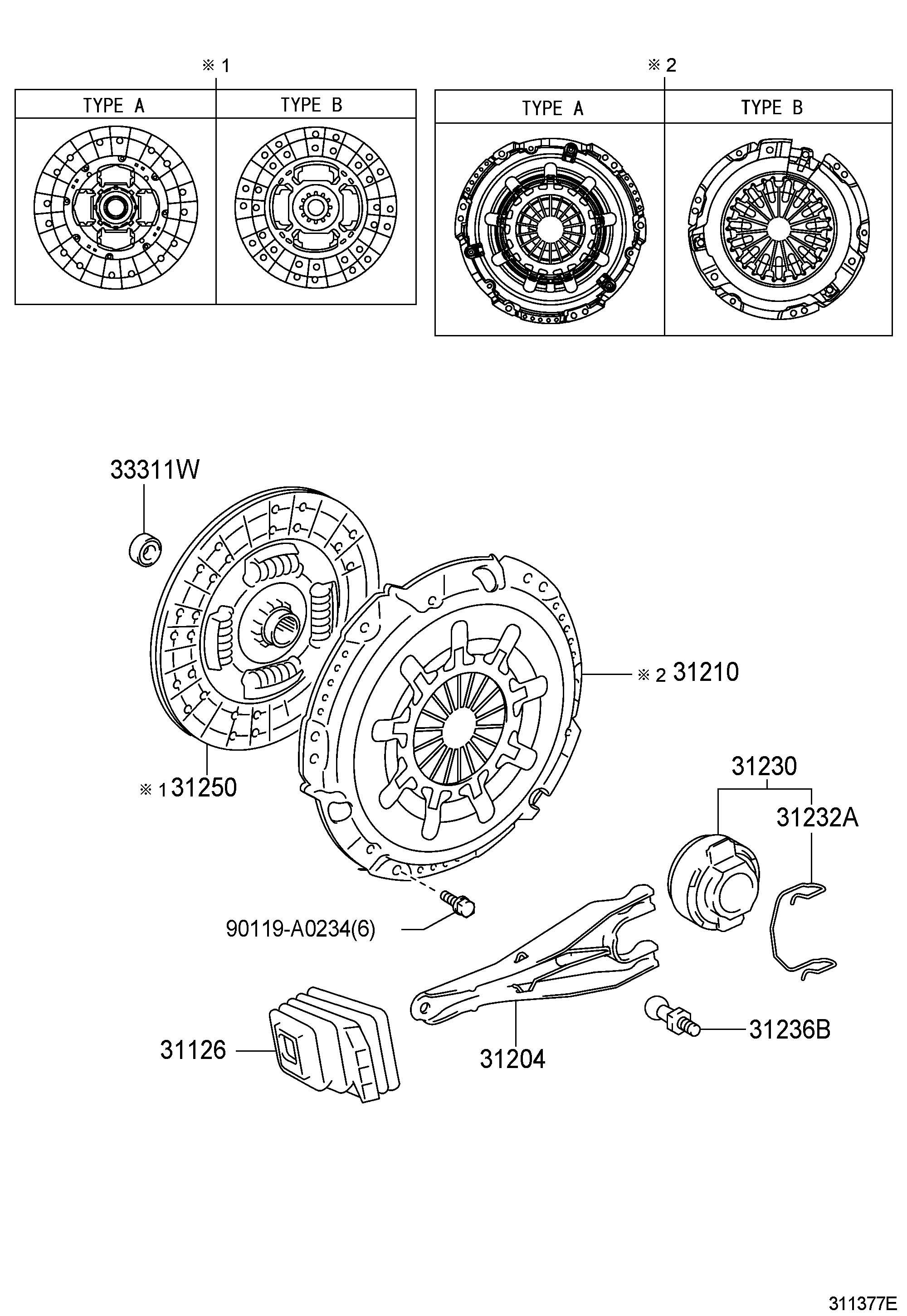 Toyota Tacoma Fork sub-assembly, clutch release. Truck