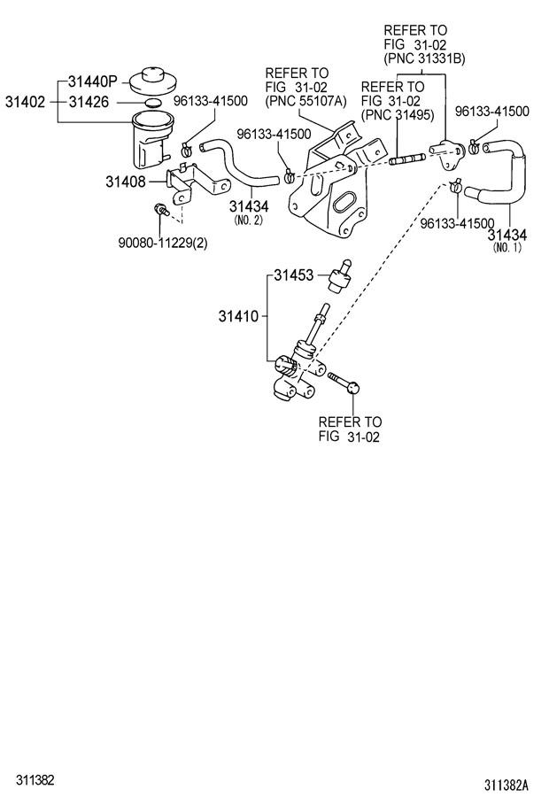 Toyota Tacoma Cylinder assembly, clutch master. Cylinder