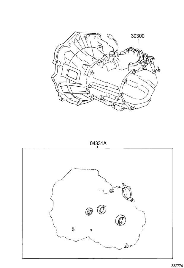 Toyota Corolla Transaxle assembly, manual. Transaxle; e351