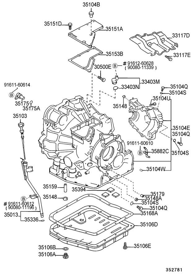 2001 Toyota Sienna Pan sub-assembly, automatic transaxle