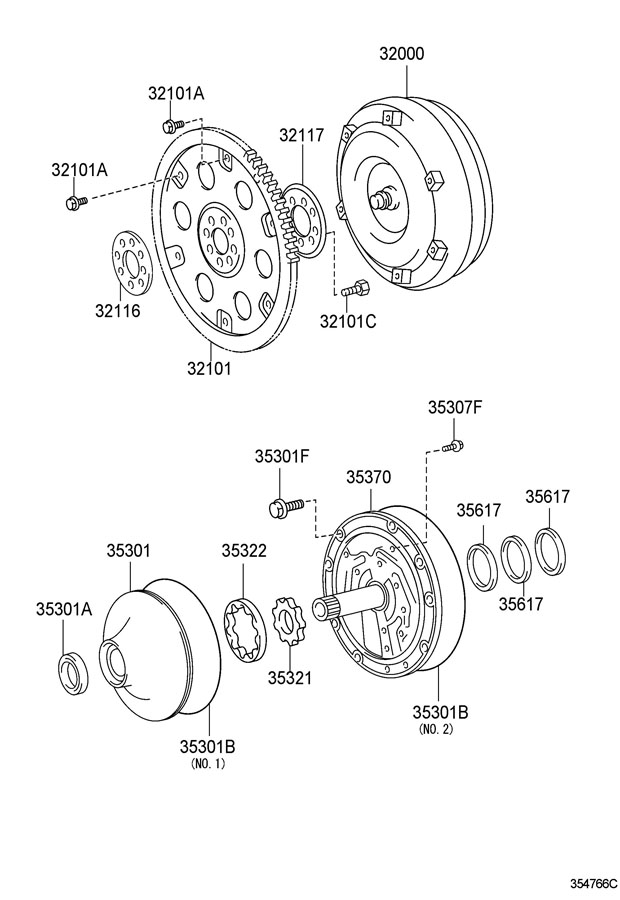2008 Toyota Tacoma Converter assembly, torque. Converter