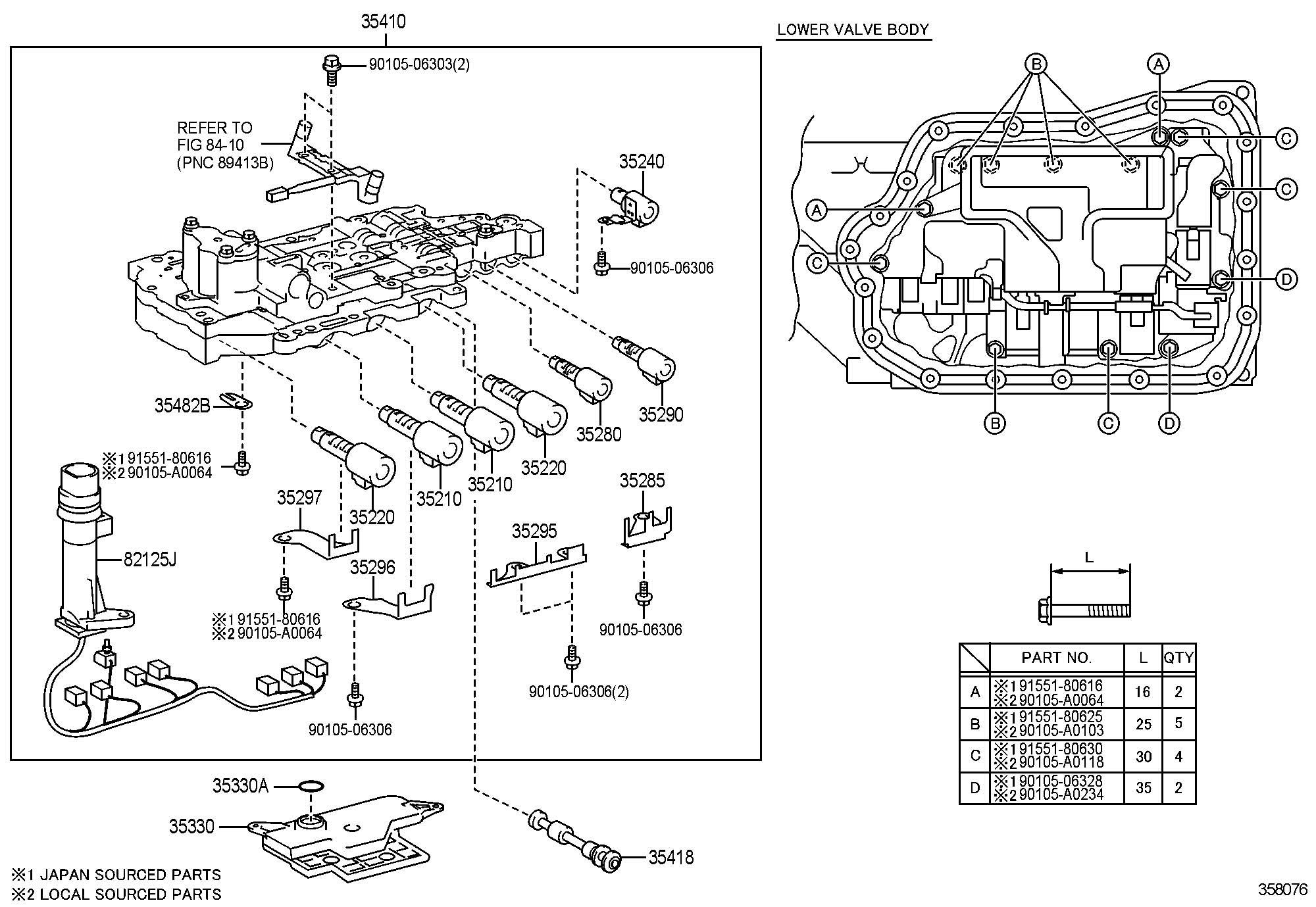 Toyota Camry Body Assembly Transmission Valve Body