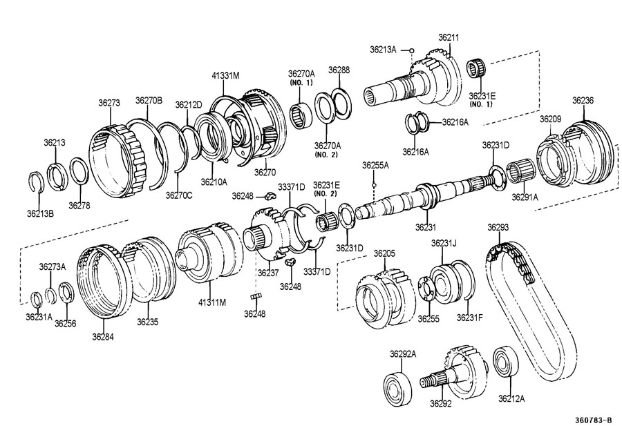 2007 Bearing (for transfer driven sprocket). Bearing