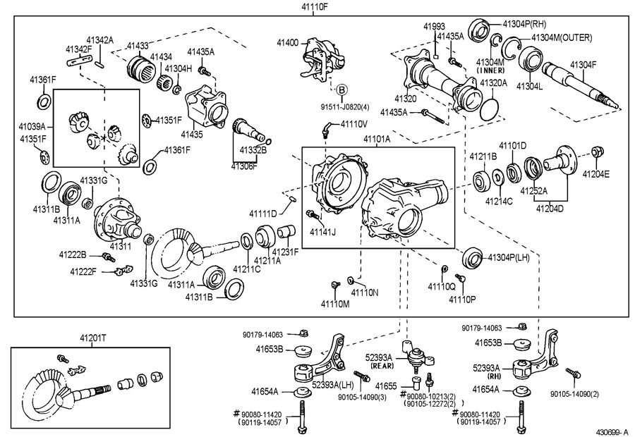 Toyota Tacoma Actuator assembly, differential vacuum