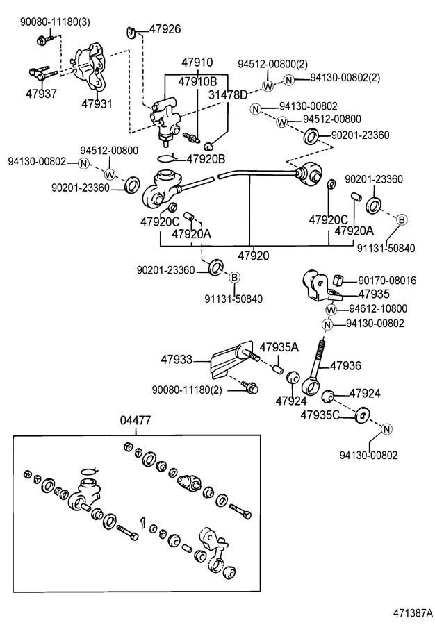 2004 Toyota Tundra Valve assembly, load sensing