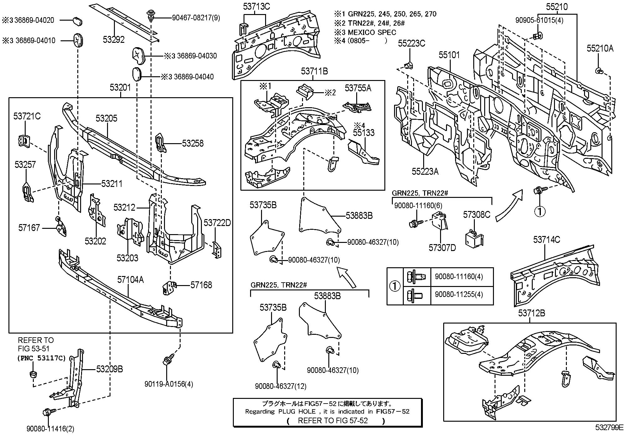 Toyota Tacoma Support sub-assembly, radiator, right