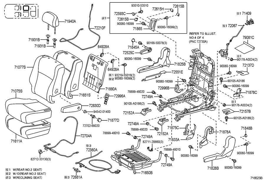 Toyota Highlander Cable assembly, seat adjuster control