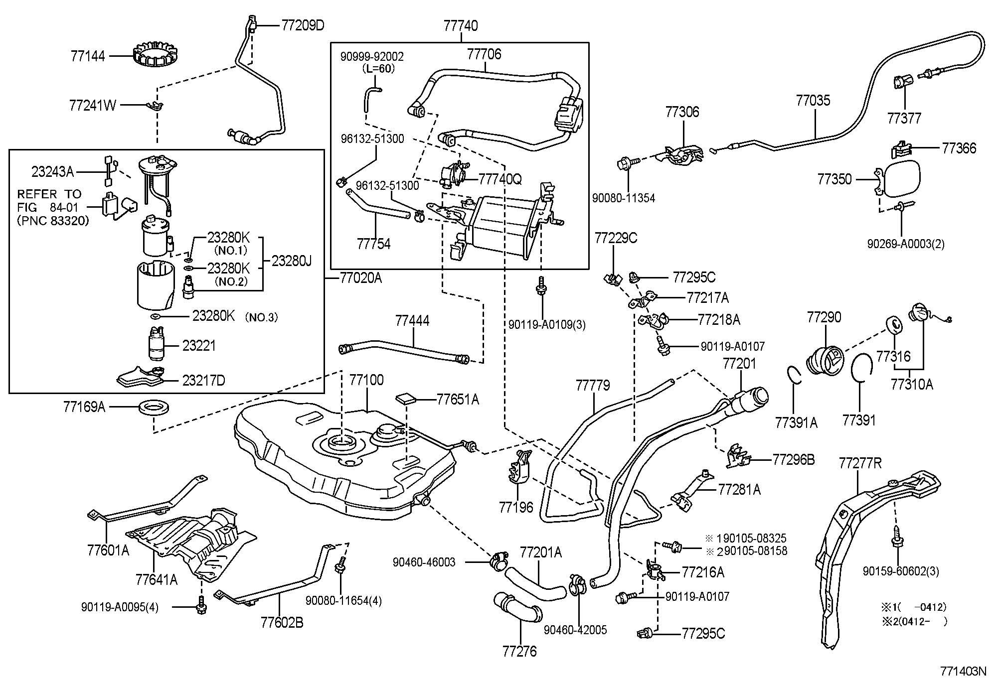 Toyota Matrix Leak Detection Pump Sub Assembly Charcoal