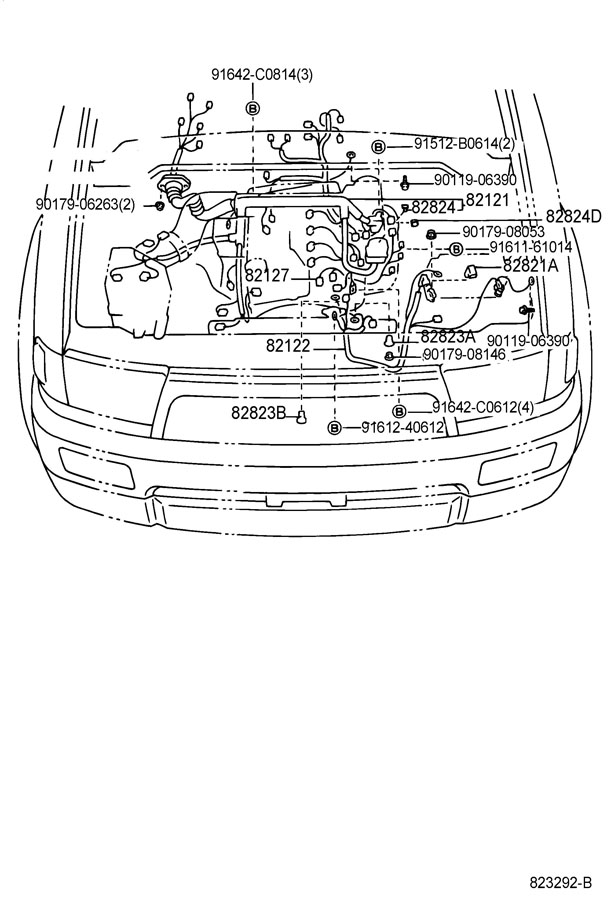Toyota 4Runner Wire, engine. Wiring, truck, electrical
