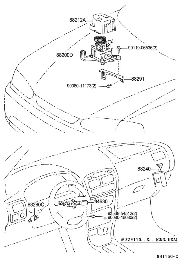 Toyota Corolla Actuator assembly, cruise control. Actuator
