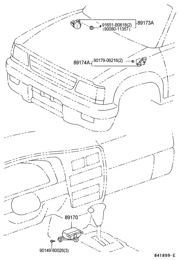 Toyota Tacoma Sensor assembly, air bag. Sensor, air bag
