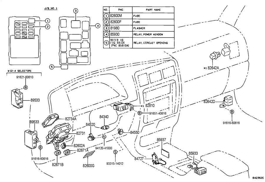 Toyota 4Runner Switch, shift lock control. Switch, shift